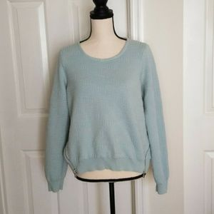 Anthro Moth Crew Neck Textured Sweater